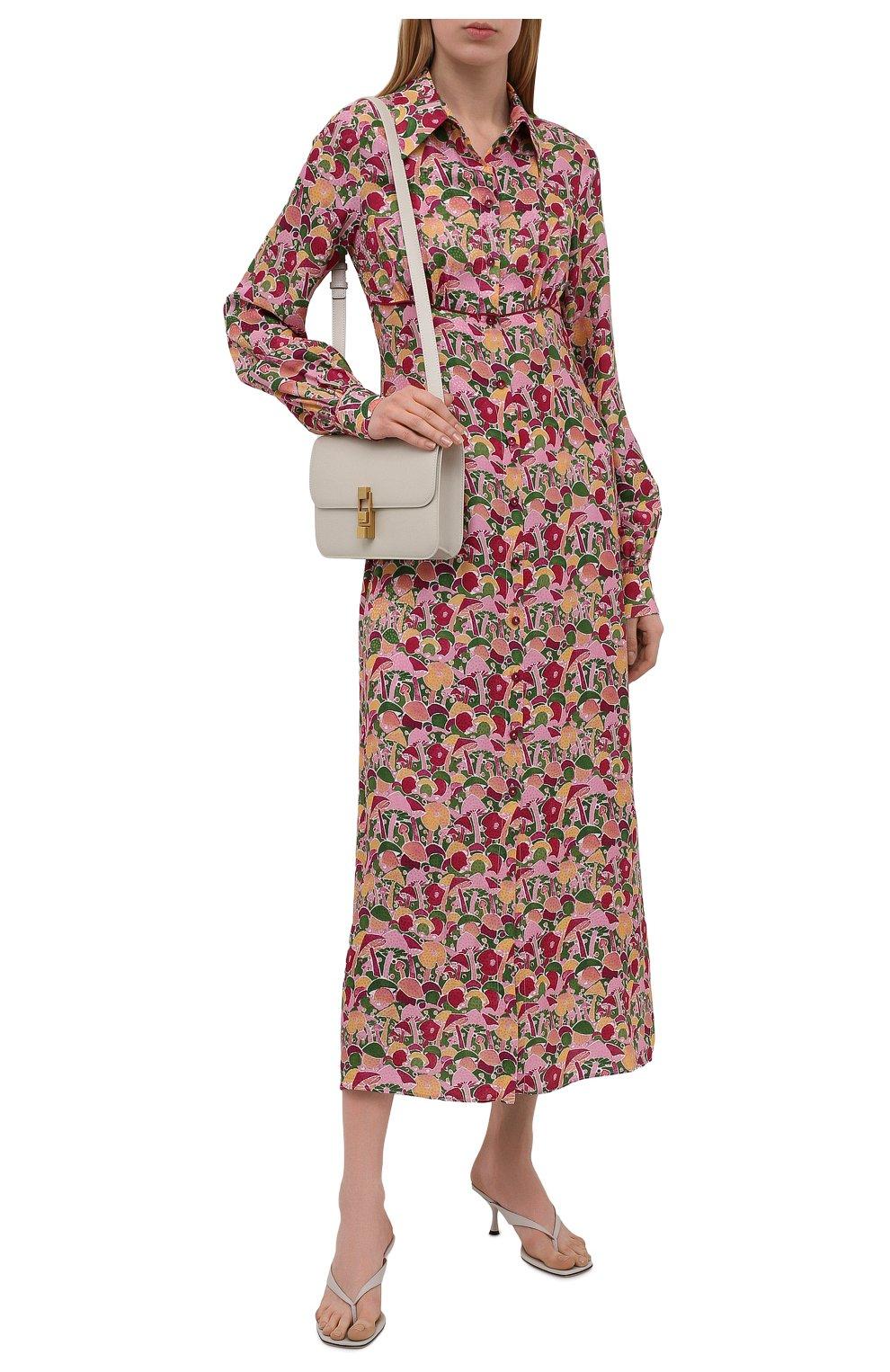 Женское платье из вискозы и шелка M MISSONI разноцветного цвета, арт. 2DG00545/2W0070 | Фото 2 (Женское Кросс-КТ: платье-рубашка, Платье-одежда; Материал внешний: Шелк, Вискоза; Рукава: Длинные; Случай: Повседневный; Длина Ж (юбки, платья, шорты): Миди; Стили: Бохо)