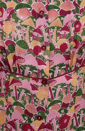 Женское платье из вискозы и шелка M MISSONI разноцветного цвета, арт. 2DG00545/2W0070 | Фото 5 (Женское Кросс-КТ: платье-рубашка, Платье-одежда; Материал внешний: Шелк, Вискоза; Рукава: Длинные; Случай: Повседневный; Длина Ж (юбки, платья, шорты): Миди; Стили: Бохо)
