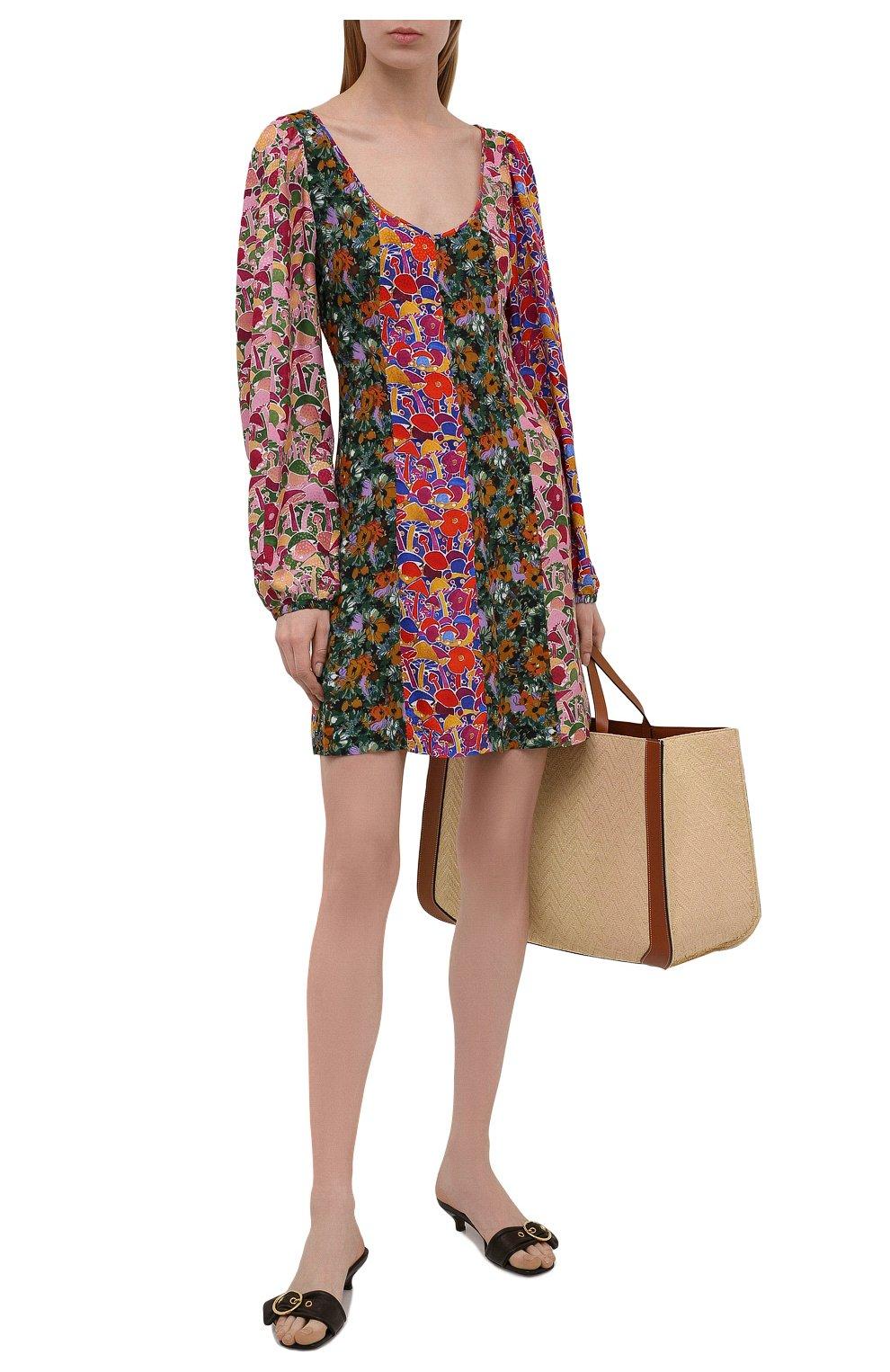 Женское платье из вискозы M MISSONI разноцветного цвета, арт. 2DG00550/2W0077 | Фото 2 (Рукава: Длинные; Длина Ж (юбки, платья, шорты): Мини; Случай: Повседневный; Материал внешний: Вискоза; Стили: Бохо; Женское Кросс-КТ: Платье-одежда)
