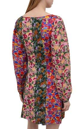 Женское платье из вискозы M MISSONI разноцветного цвета, арт. 2DG00550/2W0077 | Фото 4 (Рукава: Длинные; Длина Ж (юбки, платья, шорты): Мини; Случай: Повседневный; Материал внешний: Вискоза; Стили: Бохо; Женское Кросс-КТ: Платье-одежда)
