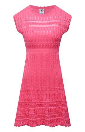Женское платье из хлопка и вискозы M MISSONI розового цвета, арт. 2DG00570/2K008G   Фото 1