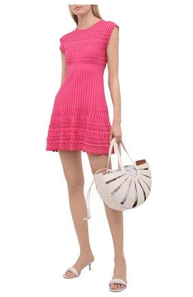 Женское платье из хлопка и вискозы M MISSONI розового цвета, арт. 2DG00570/2K008G   Фото 2