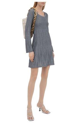Женское платье из вискозы M MISSONI серебряного цвета, арт. 2DG00583/2K008Y   Фото 2
