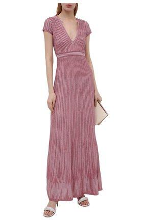 Женское платье из вискозы M MISSONI розового цвета, арт. 2DG00584/2K008Y   Фото 2