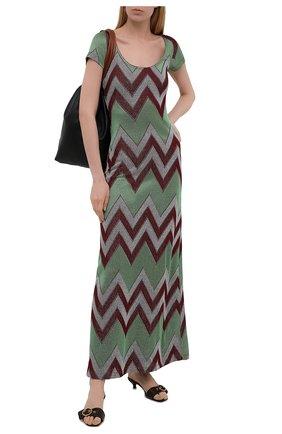 Женское платье из хлопка и вискозы M MISSONI разноцветного цвета, арт. 2DG00595/2J005M   Фото 2