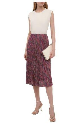 Женская юбка из хлопка и вискозы M MISSONI розового цвета, арт. 2DH00190/2J0051   Фото 2
