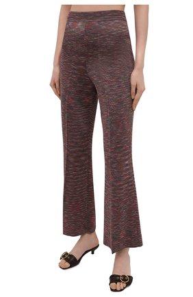 Женские брюки из вискозы и хлопка M MISSONI разноцветного цвета, арт. 2DI00271/2K008B | Фото 3 (Длина (брюки, джинсы): Стандартные; Женское Кросс-КТ: Брюки-одежда; Кросс-КТ: Трикотаж; Силуэт Ж (брюки и джинсы): Расклешенные; Материал внешний: Хлопок, Вискоза; Стили: Бохо)