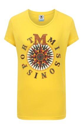 Женская хлопковая футболка M MISSONI желтого цвета, арт. 2DL00096/2J005T   Фото 1