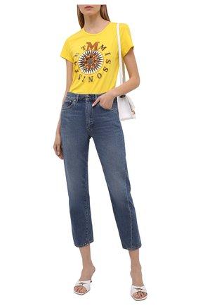 Женская хлопковая футболка M MISSONI желтого цвета, арт. 2DL00096/2J005T   Фото 2