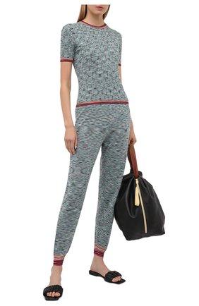 Женский шерстяной пуловер M MISSONI голубого цвета, арт. 2DN00333/2K008H   Фото 2