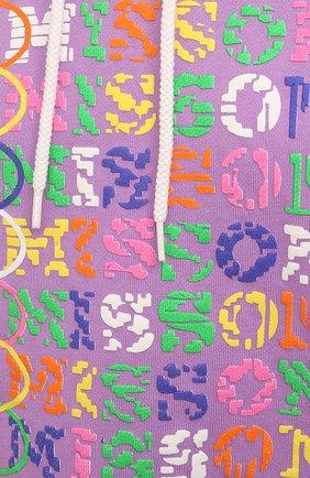 Женский хлопковое худи M MISSONI сиреневого цвета, арт. 2DW00003/2J005I | Фото 5 (Рукава: Длинные; Женское Кросс-КТ: Худи-спорт, Худи-одежда; Материал внешний: Хлопок; Стили: Спорт-шик; Длина (для топов): Укороченные)