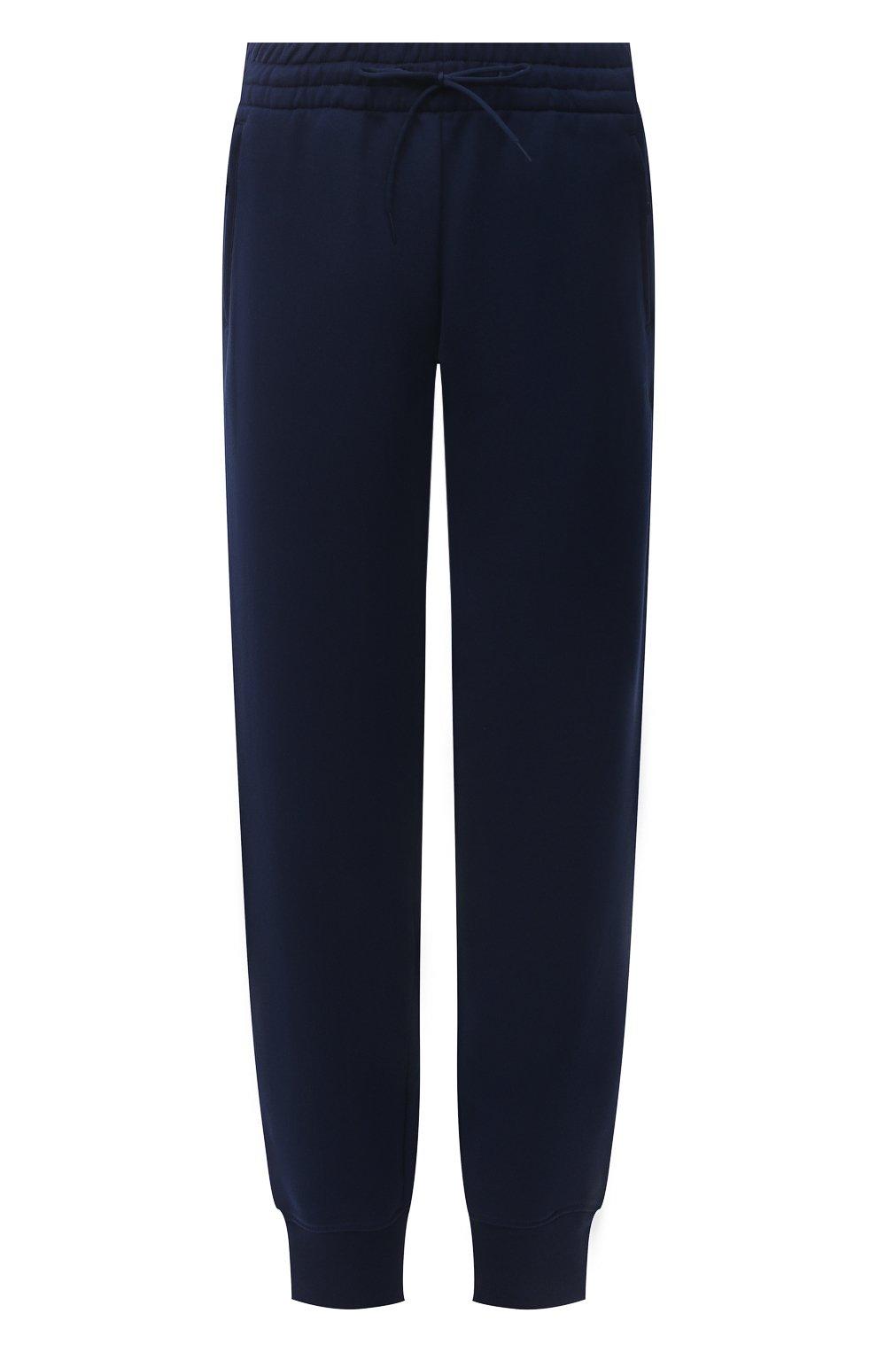 Женские хлопковые джоггеры Y-3 темно-синего цвета, арт. GV2787/W | Фото 1 (Женское Кросс-КТ: Брюки-спорт, Джоггеры - брюки; Длина (брюки, джинсы): Стандартные; Силуэт Ж (брюки и джинсы): Джоггеры; Кросс-КТ: Трикотаж; Материал внешний: Хлопок; Стили: Спорт-шик)