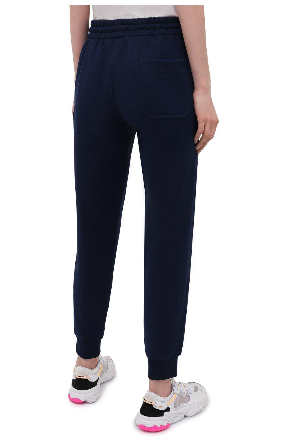 Женские хлопковые джоггеры Y-3 темно-синего цвета, арт. GV2787/W | Фото 4 (Женское Кросс-КТ: Брюки-спорт, Джоггеры - брюки; Длина (брюки, джинсы): Стандартные; Силуэт Ж (брюки и джинсы): Джоггеры; Кросс-КТ: Трикотаж; Материал внешний: Хлопок; Стили: Спорт-шик)