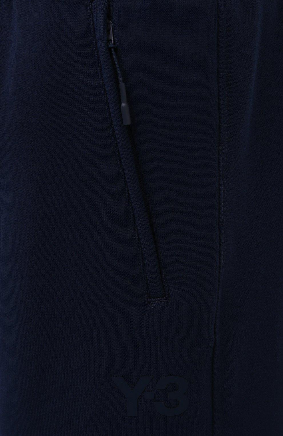 Женские хлопковые джоггеры Y-3 темно-синего цвета, арт. GV2787/W | Фото 5 (Женское Кросс-КТ: Брюки-спорт, Джоггеры - брюки; Длина (брюки, джинсы): Стандартные; Силуэт Ж (брюки и джинсы): Джоггеры; Кросс-КТ: Трикотаж; Материал внешний: Хлопок; Стили: Спорт-шик)