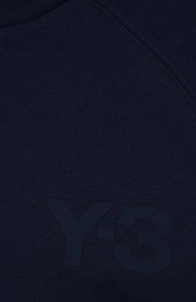 Женский свитшот Y-3 темно-синего цвета, арт. GV0339/W | Фото 5 (Рукава: Длинные; Длина (для топов): Стандартные; Женское Кросс-КТ: Свитшот-спорт, Свитшот-одежда; Материал внешний: Хлопок; Стили: Спорт-шик)