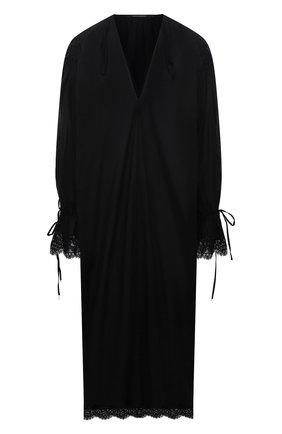 Женское хлопковое платье DANIILBERG черного цвета, арт. D005 | Фото 1