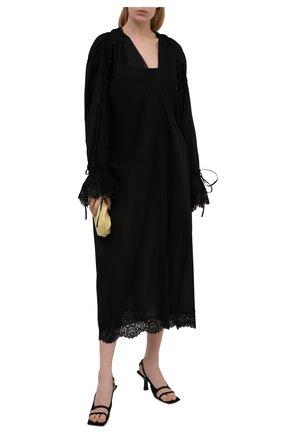 Женское хлопковое платье DANIILBERG черного цвета, арт. D005 | Фото 2