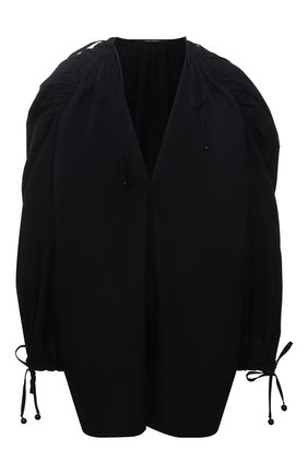 Женская хлопковая блузка DANIILBERG черного цвета, арт. BL004.20 | Фото 1