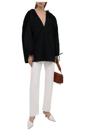 Женская хлопковая блузка DANIILBERG черного цвета, арт. BL004.20 | Фото 2