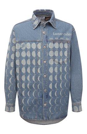 Мужская джинсовая рубашка loewe x paula's ibiza LOEWE синего цвета, арт. H616Y04X19 | Фото 1
