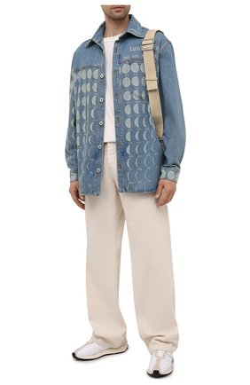 Мужская джинсовая рубашка loewe x paula's ibiza LOEWE синего цвета, арт. H616Y04X19 | Фото 2