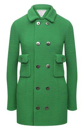 Женский хлопковый жакет BOTTEGA VENETA зеленого цвета, арт. 657644/V0S90 | Фото 1