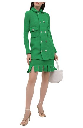 Женский хлопковый жакет BOTTEGA VENETA зеленого цвета, арт. 657644/V0S90 | Фото 2