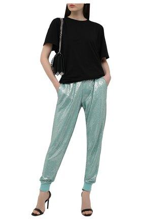 Женские шерстяные джоггеры с пайетками RALPH LAUREN голубого цвета, арт. 290849405   Фото 2 (Материал внешний: Шерсть; Силуэт Ж (брюки и джинсы): Джоггеры; Женское Кросс-КТ: Джоггеры - брюки; Стили: Спорт-шик; Длина (брюки, джинсы): Стандартные; Кросс-КТ: Трикотаж)