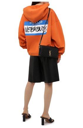 Женский хлопковое худи VETEMENTS оранжевого цвета, арт. UA52TR710X 1601/W   Фото 2