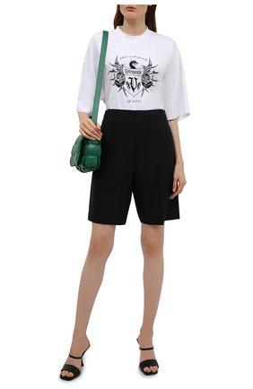 Женская хлопковая футболка VETEMENTS белого цвета, арт. UA52TR480W 1610/W   Фото 2