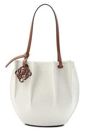 Женский сумка-тоут shell loewe x paula's ibiza LOEWE белого цвета, арт. A884T49X02 | Фото 1 (Сумки-технические: Сумки-шопперы; Размер: medium; Материал: Текстиль)