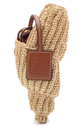 Женская сумка tulip shell mini loewe x paula's ibiza LOEWE бежевого цвета, арт. C899T85X01 | Фото 1 (Сумки-технические: Сумки через плечо; Материал: Растительное волокно; Размер: mini; Ремень/цепочка: На ремешке)