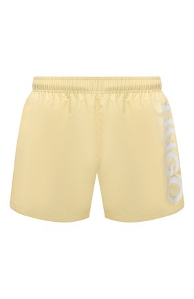 Мужские плавки-шорты HUGO желтого цвета, арт. 50451173 | Фото 1