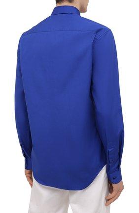 Мужская хлопковая рубашка VERSACE темно-синего цвета, арт. A89273/A232105 | Фото 4