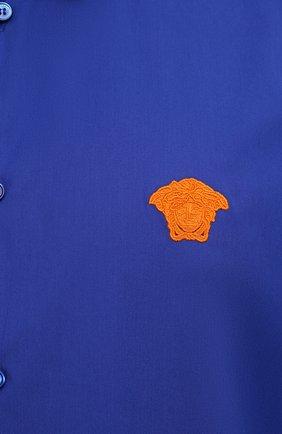 Мужская хлопковая рубашка VERSACE темно-синего цвета, арт. A89273/A232105 | Фото 5