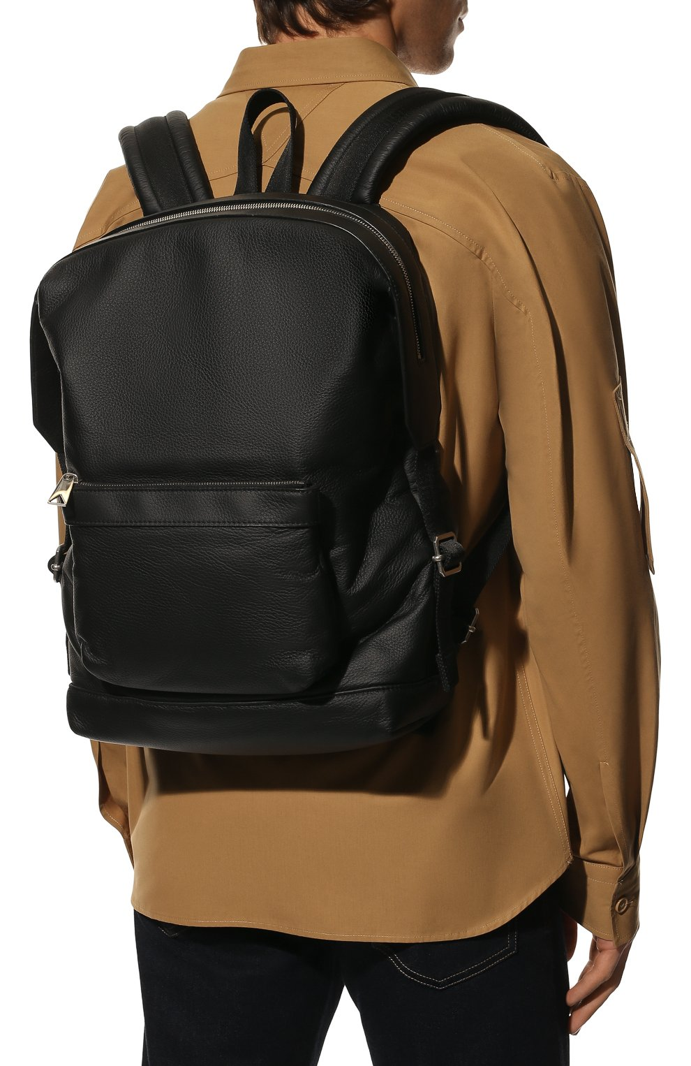 Мужской кожаный рюкзак BOTTEGA VENETA черного цвета, арт. 658066/V00Z3 | Фото 2