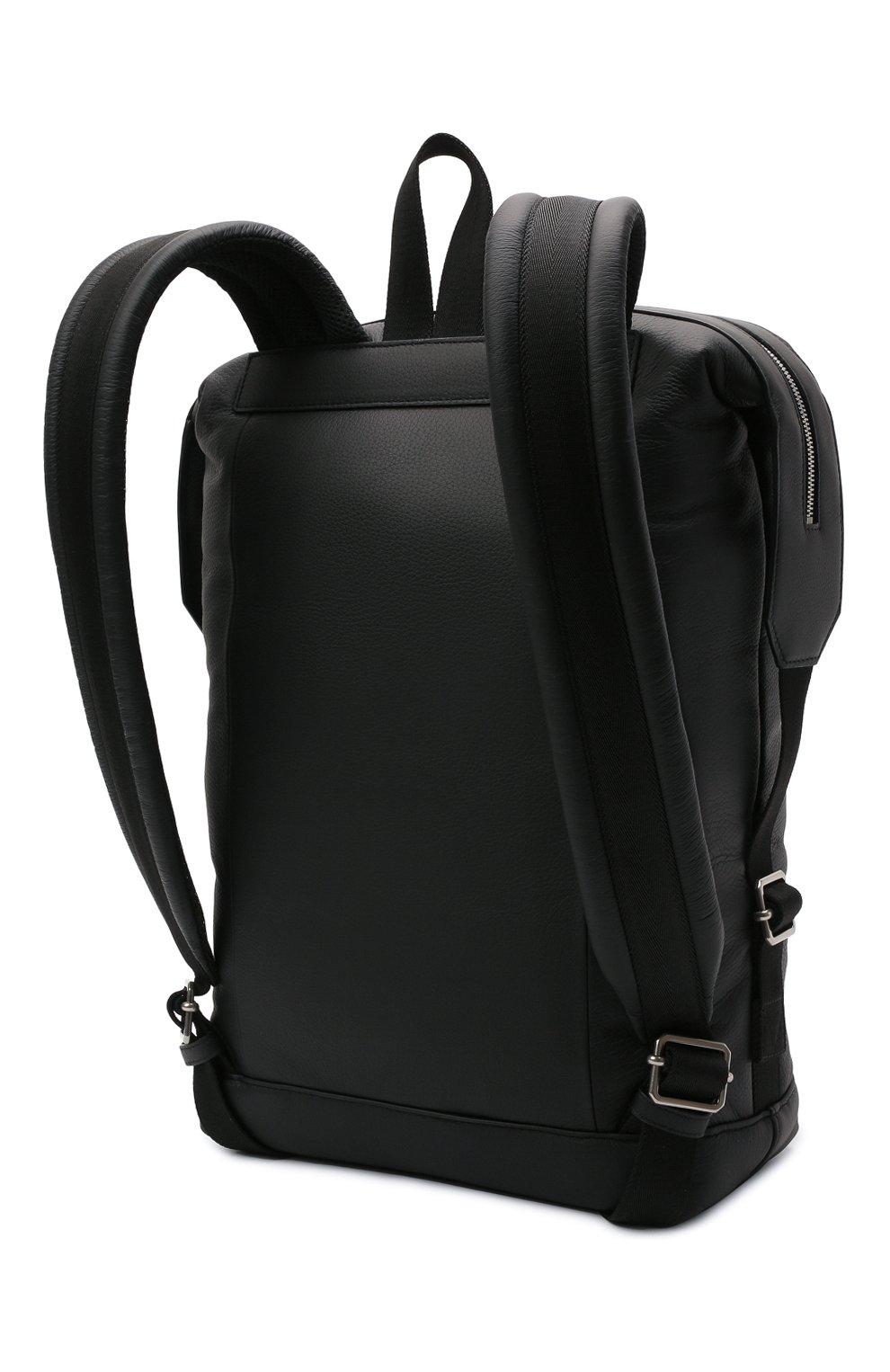 Мужской кожаный рюкзак BOTTEGA VENETA черного цвета, арт. 658066/V00Z3 | Фото 3