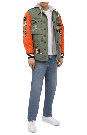 Мужская хлопковая куртка POLO RALPH LAUREN хаки цвета, арт. 710823954 | Фото 2