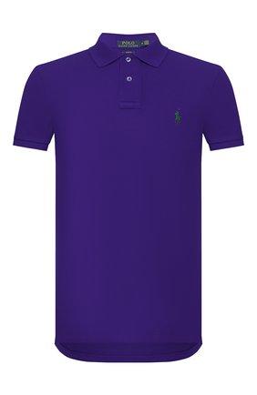 Мужское хлопковое поло POLO RALPH LAUREN фиолетового цвета, арт. 710795080 | Фото 1