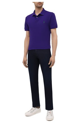 Мужское хлопковое поло POLO RALPH LAUREN фиолетового цвета, арт. 710795080 | Фото 2