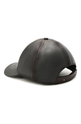 Мужской кожаная бейсболка BERLUTI темно-серого цвета, арт. T20CA17-001   Фото 2