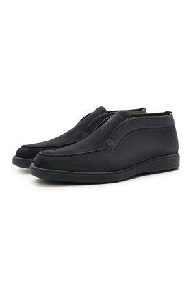 Мужские замшевые ботинки SANTONI темно-синего цвета, арт. MGDG1782300TASVUU60 | Фото 1