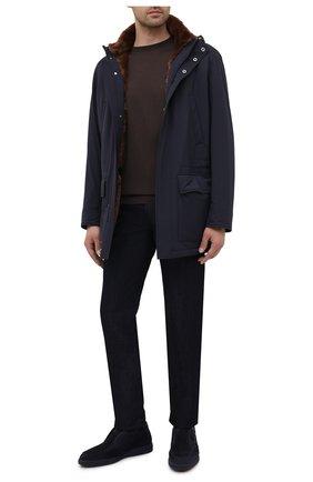 Мужские замшевые ботинки SANTONI темно-синего цвета, арт. MGDG1782300TASVUU60 | Фото 2