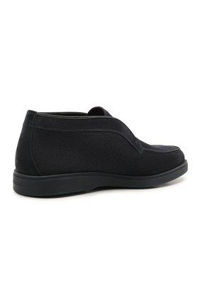 Мужские замшевые ботинки SANTONI темно-синего цвета, арт. MGDG1782300TASVUU60 | Фото 4 (Материал утеплителя: Натуральный мех; Мужское Кросс-КТ: Ботинки-обувь; Подошва: Плоская; Материал внешний: Замша)