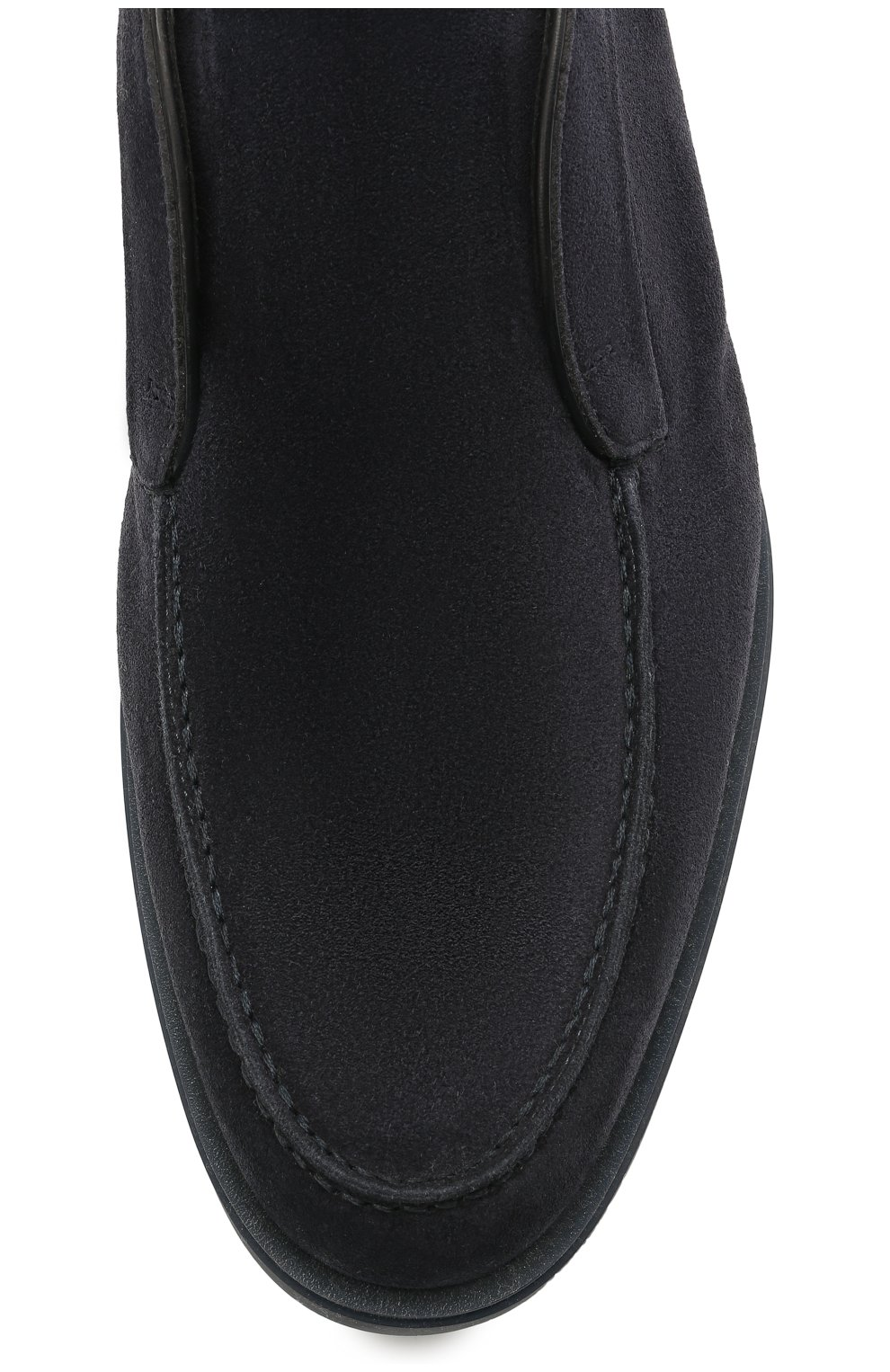 Мужские замшевые ботинки SANTONI темно-синего цвета, арт. MGDG1782300TASVUU60 | Фото 5 (Материал утеплителя: Натуральный мех; Мужское Кросс-КТ: Ботинки-обувь; Подошва: Плоская; Материал внешний: Замша)
