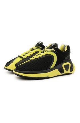 Мужские комбинированные кроссовки b-runner BALMAIN черного цвета, арт. VM0VI261/TSDY | Фото 1