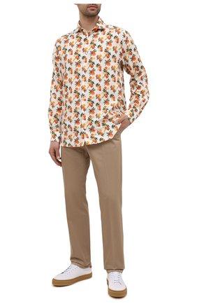 Мужская льняная рубашка ETON разноцветного цвета, арт. 1000 03075 | Фото 2