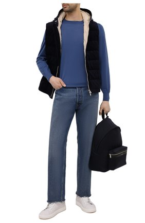 Мужской пуховый жилет BRUNELLO CUCINELLI темно-синего цвета, арт. MQ4361715 | Фото 2
