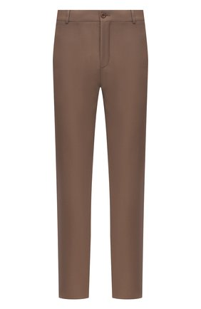 Мужские брюки из хлопка и шерсти LORO PIANA светло-коричневого цвета, арт. FAL7991 | Фото 1 (Стили: Кэжуэл; Материал внешний: Хлопок, Шерсть; Материал подклада: Синтетический материал; Длина (брюки, джинсы): Стандартные; Случай: Повседневный)