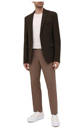 Мужские брюки из хлопка и шерсти LORO PIANA светло-коричневого цвета, арт. FAL7991 | Фото 2 (Стили: Кэжуэл; Материал внешний: Хлопок, Шерсть; Материал подклада: Синтетический материал; Длина (брюки, джинсы): Стандартные; Случай: Повседневный)